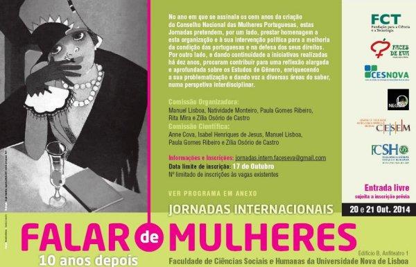 Jornadas Internacionais – Falar de Mulheres – 10 anos depois