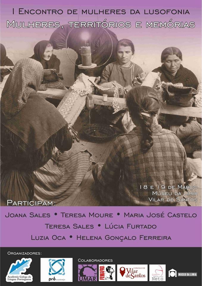 I Encontro de Mulheres na Lusofonia, 18-19 de Março, Vilar de Santos, Galiza