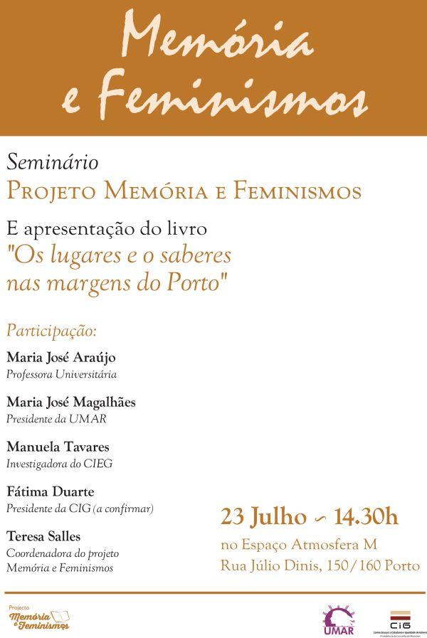 Seminário Projeto Memórias e Feminismos – Porto