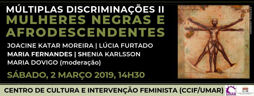 SÁB, 2 Março às 14h30 // Sessão Mulheres Negras e Afrodescendentes no CCIF/UMAR